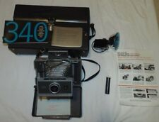 Vintage Polaroid 340 Automatic Land Camera with case, manual & Flashgun #268