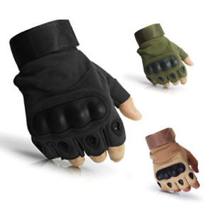 1Pair Tactical Half Finger Gloves Airsoft Bicycle Shooting Hunting Climbing