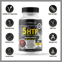5HTP Fights Depression Insomniac Anxiety Mood 200mg 90 Tablets - UK Manufactured