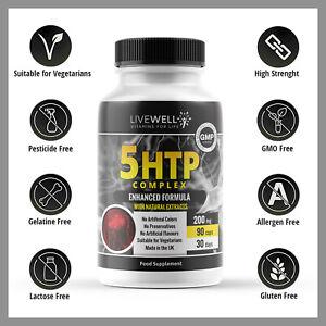 5-HTP 200mg 5htp - Serotonin Sleep Anxiety Stress Depression 5 HTP Tablets