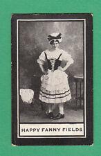 WILLS  SCISSORS - RARE MUSICAL HALL CELEBRITIES CARD -  FANNY  FIELDS  -  1911
