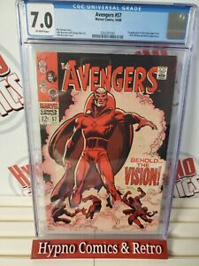 Avengers #57 (1968) CGC 7.0 - 1st Appearance of Vision Marvel Comics Key Issue!