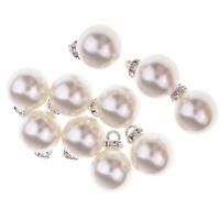 10pz Perle Di Strass Pendenti Con Charms Per Gioielli Fai Da Te Decorazioni