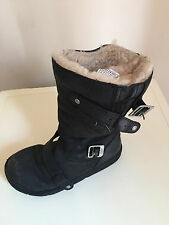Women's Leather Boots Black Size 5 Uk