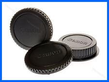 2 x Lens Cap Set Canon EOS DSLR / SLR Body + Rear Cap 5D 6D 70D 1D Rebel X