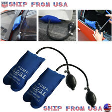 2x Air Pump Wedge Clamp Shim Emergency Entry Tool Car Door Window Open Bag