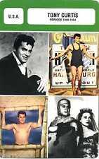 Fiche Acteur. Actor Card. Tony Curtis (U.S.A.) Période 1948-1954