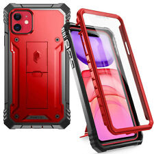 iPhone 11 Case | Poetic Full Coverage Defense Shockproof Back Cover Metal Red