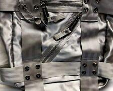 Juicy Couture Handbag/Purse Silver Festive Large Many Zippers & Pockets Shiny