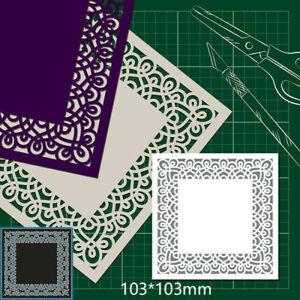 Square Lace Frame Metal Cutting Dies Embossing Stencil Scrapbook Paper Card DIY