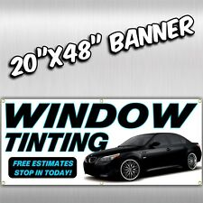 WINDOW TINTING Red Full Curve Top PREMIUM WIDE WINDLESS Advertising Banner Flag