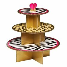 3 Tier Cardboard Diva Print Party Cake Stand (hold up to 28 cupcakes)