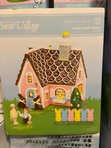3 Pcs. Department 56 Village Easter Sweets House Building