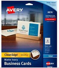 Avery Inkjet Business Cards 2 Side 200pk 3 12x2 Ivory