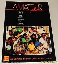 AMATEUR Photo Ciné Vidéo KODAK - N° 37 de 1989 - Cent ans de Cinéma - EKTAR 125