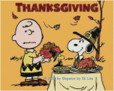 """Peanut's """"A Charlie Brown and Snoopy Thanksgiving"""" Cross Stitch Pattern CD"""