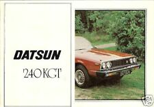 Datsun Nissan Skyline 240K GT Coupe 1978-79 UK Launch Small Format Brochure