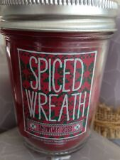 Bath & Body Works Spiced Wreath Snow Day Mason Jar Medium 6 oz Candle Christmas