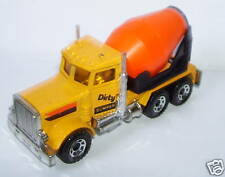 rare MATCHBOX CAMION PETERBILT CEMENT TRUCK DIRTY DUMPER HO 1/87