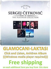 5CD SERGEJ CETKOVIC THE PLATINUM COLLECTION 2013 serbia croatia city records