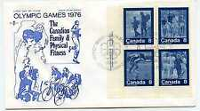 Canada 629-32 Summer Sports, 'Keep Fit', RoseCraft, Mi4, Fdc