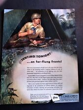 G.I. in Pup Tent WWII Ad, Tenting Tonight Refrain