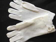 "1 pair vintage gloves by Superb stretch nylon white 7"" length made in Japan NEW"