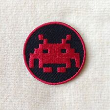 1.5 inches SPACE INVADERS ARCADE VIDEO GAME EMBROIDERY IRON ON PATCH BADGE