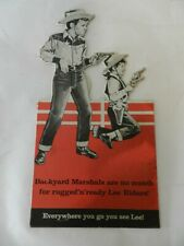 VINTAGE ADVERTISING SIGN/ STORE DISPLAY- LEE JEANS- KID COWBOYS-VINTAGE JEANS