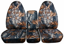 Dark Tree Camo 40/20/40 Seat Covers 1993-1998 Ford F Series Solid Rear Bench Inc