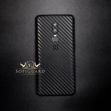 SopiGuard Carbon Fiber Sticker Skin Back Panel for OnePlus 6