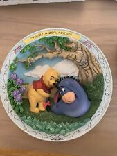 Bradford Exchange Winnie The Pooh And Friends Plate -You'Re A Real Freind