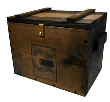 Vintage Style Wooden Ammo Box - Cartridge Accessories Storage Crate - Ammo Label