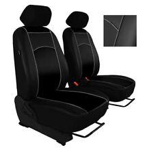 Black Eco-Leather Universal  Front Seat Covers for BMW E34 / E39 / E46