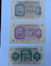 Libya 🇱🇾 Military Authority in Tripolitania 1943 British Occupied Set 3 Notes