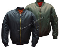 MA1 Flight Pilot Bomber Biker Jacket Security Army Military US Air Force S - 5XL