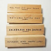 Stampin' Up! Fun Phrases Hope Sympathy Baby Christmas Wedding Husband Wife