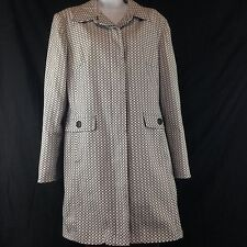 Apt. 9 Black & White Lined Spring Coat Size 16 Runs Small