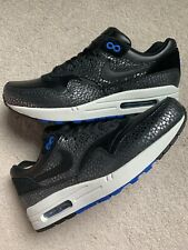 Nike Air Max 1 Deluxe Men sz 9.5 684708 001 Black Cobalt Atmos patta parra 90 ds