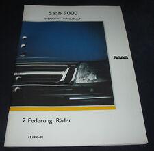 Werkstatthandbuch Saab 9000 Federung / Räder / Spezialwerkzeuge 1985 - 1991!