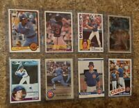 (8) Ryne Sandberg 1983 1984 Topps Fleer Donruss Rookie Card Lot RC 1985 Cubs HOF