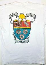 Originale Simpsons Maglia Giallo Power - Consumptum Infinitus Bianco Tgl L
