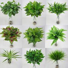 Artificial Leaves Plants Flower Fake Foliage Bush Grass Home Wedding Party Decor
