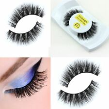 1Pair Natural Eyelash Soft Black 100% Real Mink Lashes Thick False Eyelashes