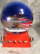 Vintage Plastic San Francisco Souvenir Snow Globe Calendar