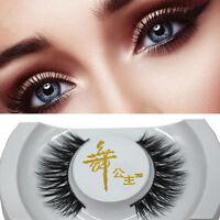 Black 3D Real Mink Soft Long Natural Thick Makeup Eye Lashes False Eyelashes Hot