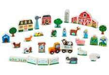 Wooden Farm Tractor Play Set Animals-Melissa and Doug