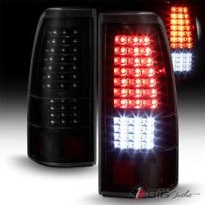 For 03-06 Silverado Black Smoked LED Tail Lights w/ LED Reverse, Turn Signal