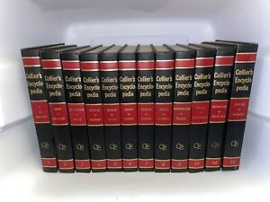 1971 Collier's Encyclopedia Complete Set 24 Volumes Vintage RARE -Good Condition