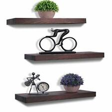Rustic Wood Floating Shelves for Wall Set of 3